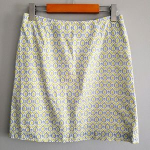 Italian made cotton brocade mini skirt